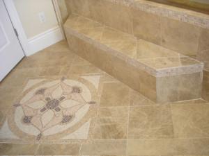 granite tile flooring install madera