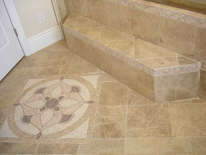 Granite tile flooring