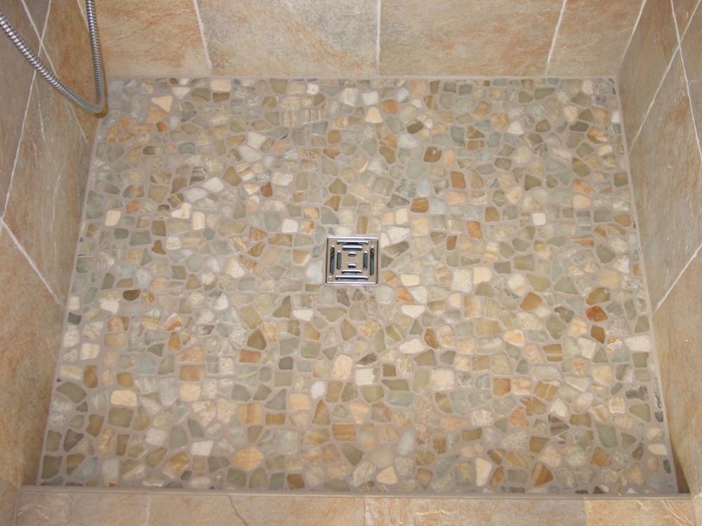 Pebble Tile Madera Install