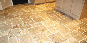travertine flooring install madera